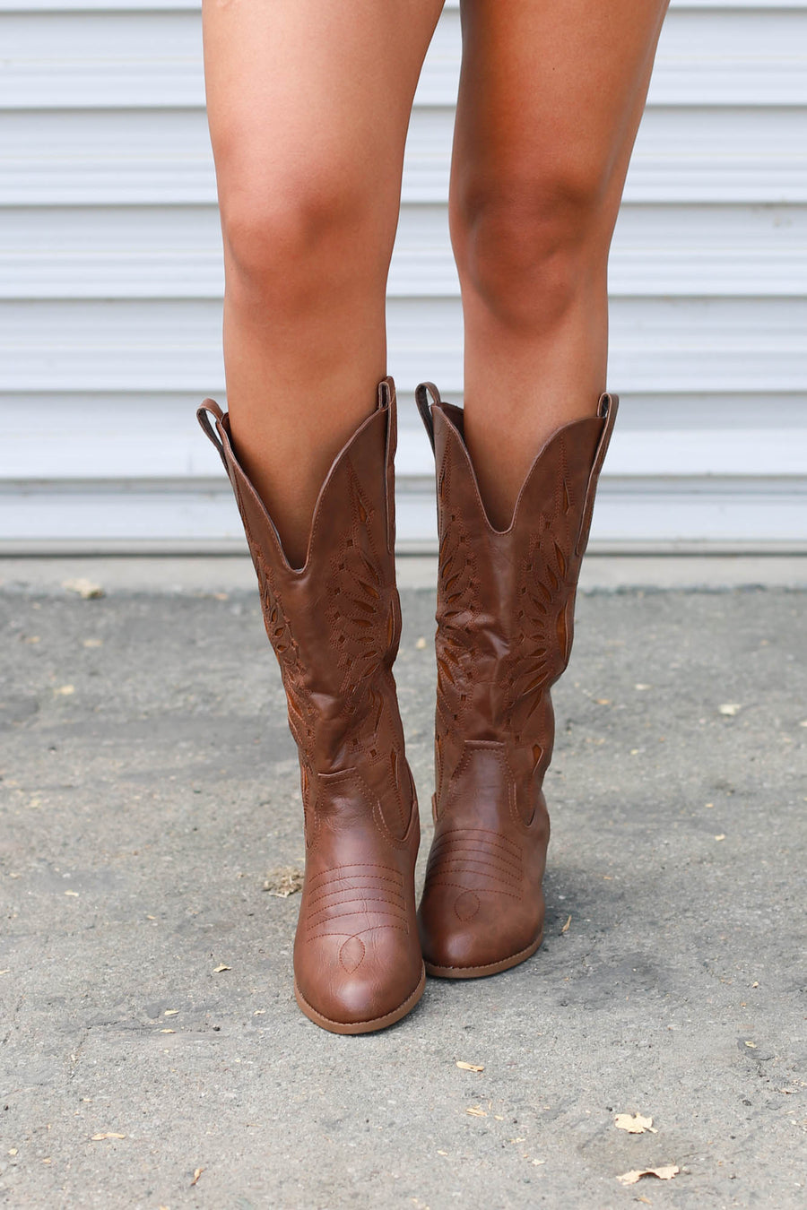 Western Dixie Sun Boots : Brown - ShopSpoiled