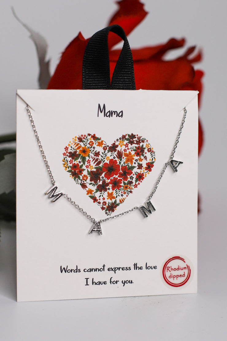 Mama Charm Necklace: Silver - ShopSpoiled