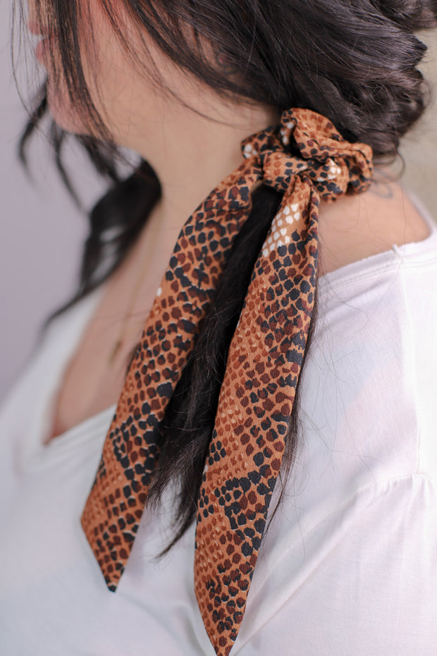 Slither And Sass Hair Scarf: Rust - ShopSpoiled