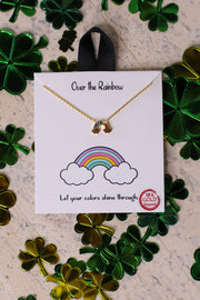 Over The Rainbow Necklace: Gold - ShopSpoiled