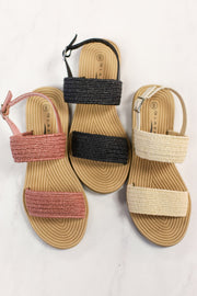 Fiona Sandals: Beige - ShopSpoiled