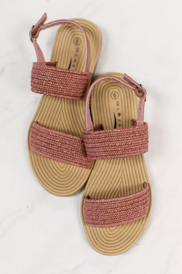 Fiona Sandals: Pink - ShopSpoiled