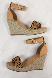 Hazel Espadrille Wedges: Cheetah - ShopSpoiled