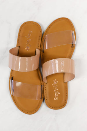 Ava Sandals: Clear - ShopSpoiled
