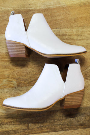 Eloise Booties: White - ShopSpoiled