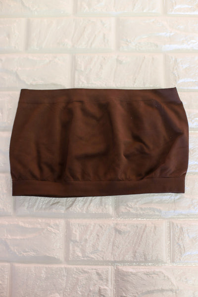 Basic Bandeau: Chocolate Brown - ShopSpoiled