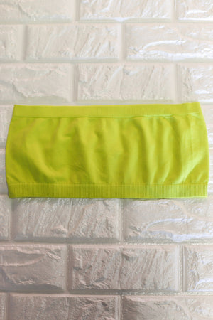 Basic Bandeau: Neon Yellow - ShopSpoiled