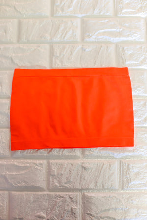 Basic Bandeau: Neon Orange - ShopSpoiled
