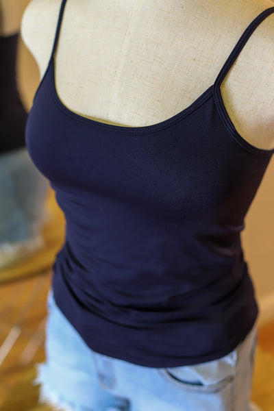 Basic Cami: Navy - ShopSpoiled