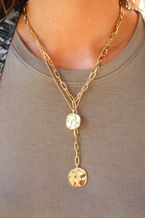 Athena Layered Necklace: Gold - ShopSpoiled