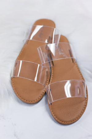 Dotty Love Sandals: Clear - ShopSpoiled