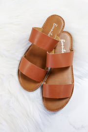 Dotty Love Sandals: Tan - ShopSpoiled