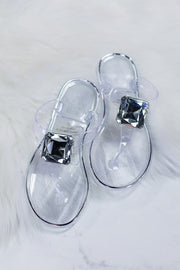 Jolie Sandals: Clear - ShopSpoiled