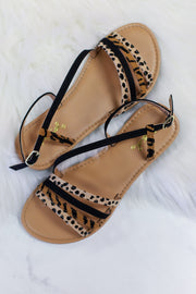 Athena Mix Leopard Sandal - ShopSpoiled