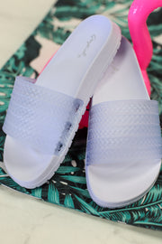 My Boyfriends Slides: White Frost - ShopSpoiled