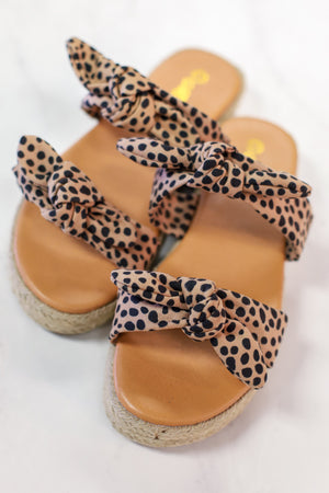 Double Knot Sandal: Cheetah - ShopSpoiled
