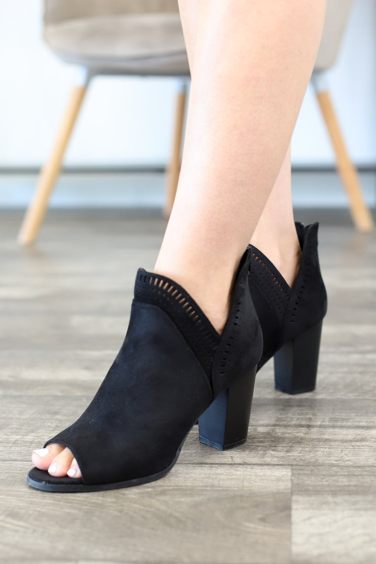 Sharpay Booties: Black - Shop Spoiled Boutique
