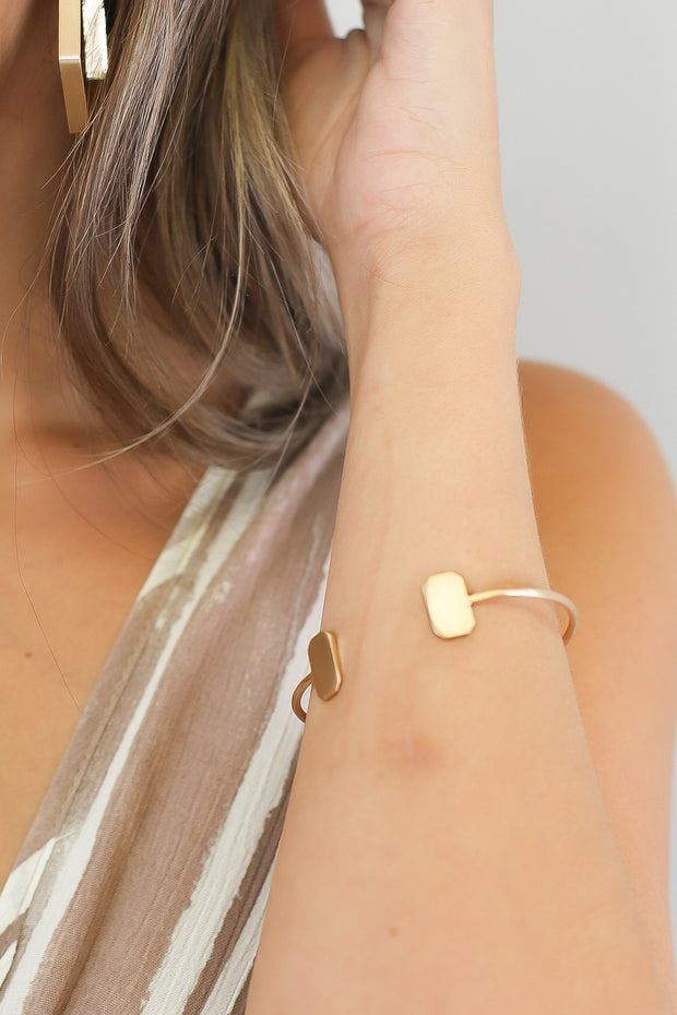 Elton Cuff Bracelet: Gold - Shop Spoiled Boutique