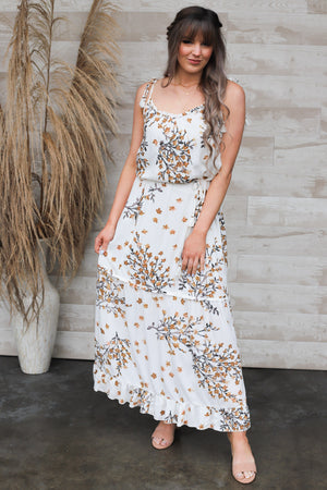 Simple Situations Maxi Dress: Caramel - ShopSpoiled