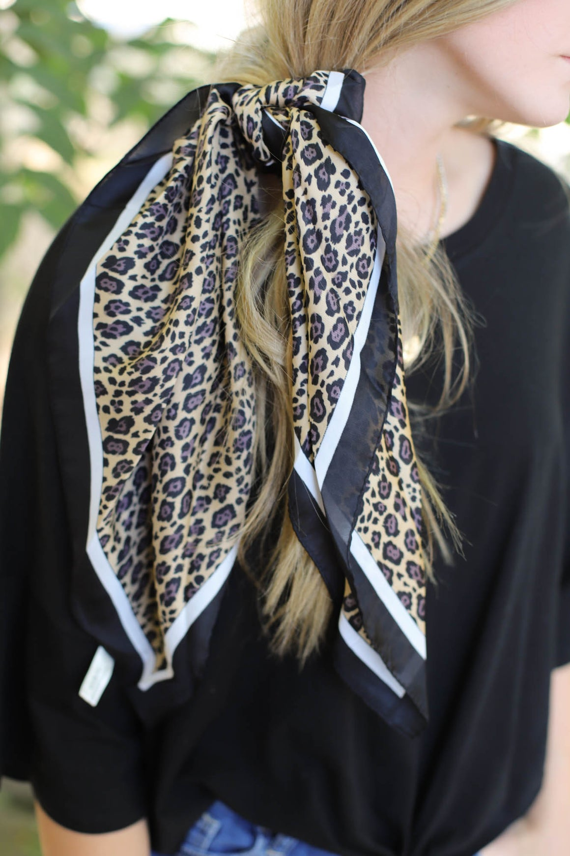 Everything in Love Hair Scarf: Leopard - ShopSpoiled