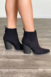 A little Bit Country Booties: Black - ShopSpoiled
