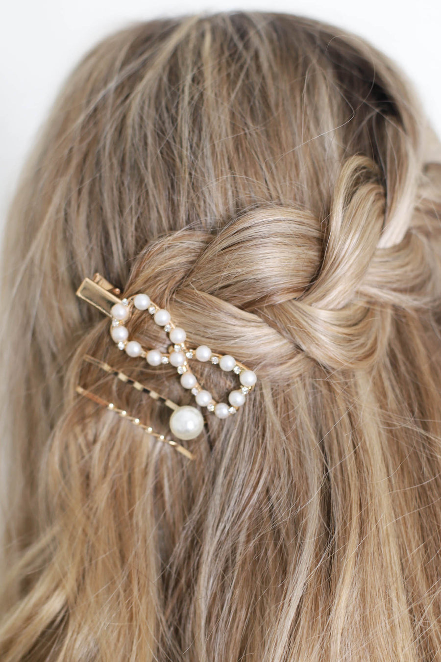 3pc Pearl Hair Clips - ShopSpoiled