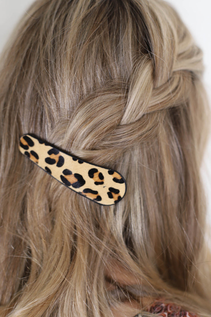 Large Leopard Hair Barrettes - ShopSpoiled