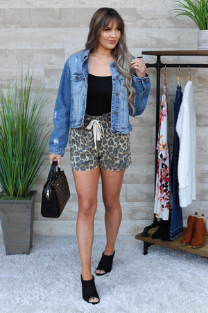 She's Dangerous Leopard Shorts - ShopSpoiled