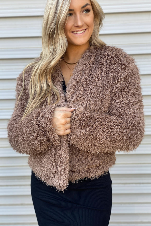 Cher Jacket: Brown - ShopSpoiled