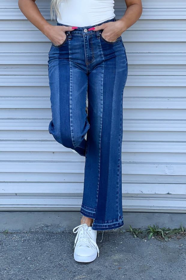 Addison Cropped Flare Jeans - ShopSpoiled
