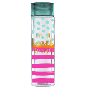Beach aholic water bottle - ShopSpoiled