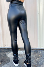 Faux Leather Leggings - ShopSpoiled