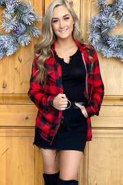 Gone Camping Flannel Top - ShopSpoiled