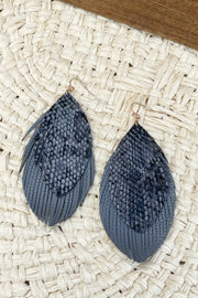 Snake Feather Earrings - ShopSpoiled