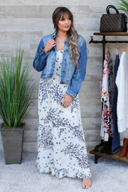 Simple Situations Maxi Dress: Slate - ShopSpoiled