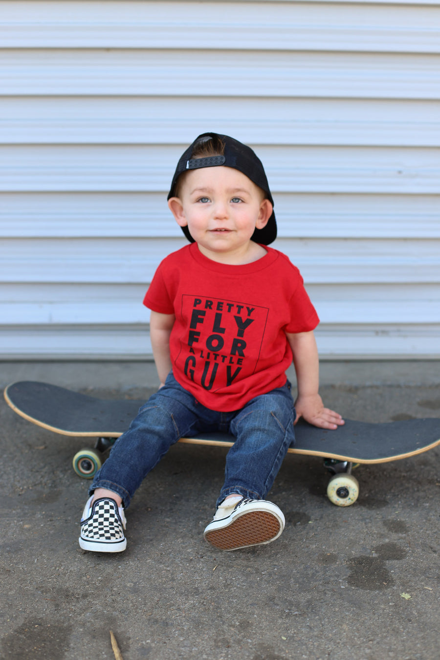 Kids Pretty Fly Graphic Tee: Red - ShopSpoiled