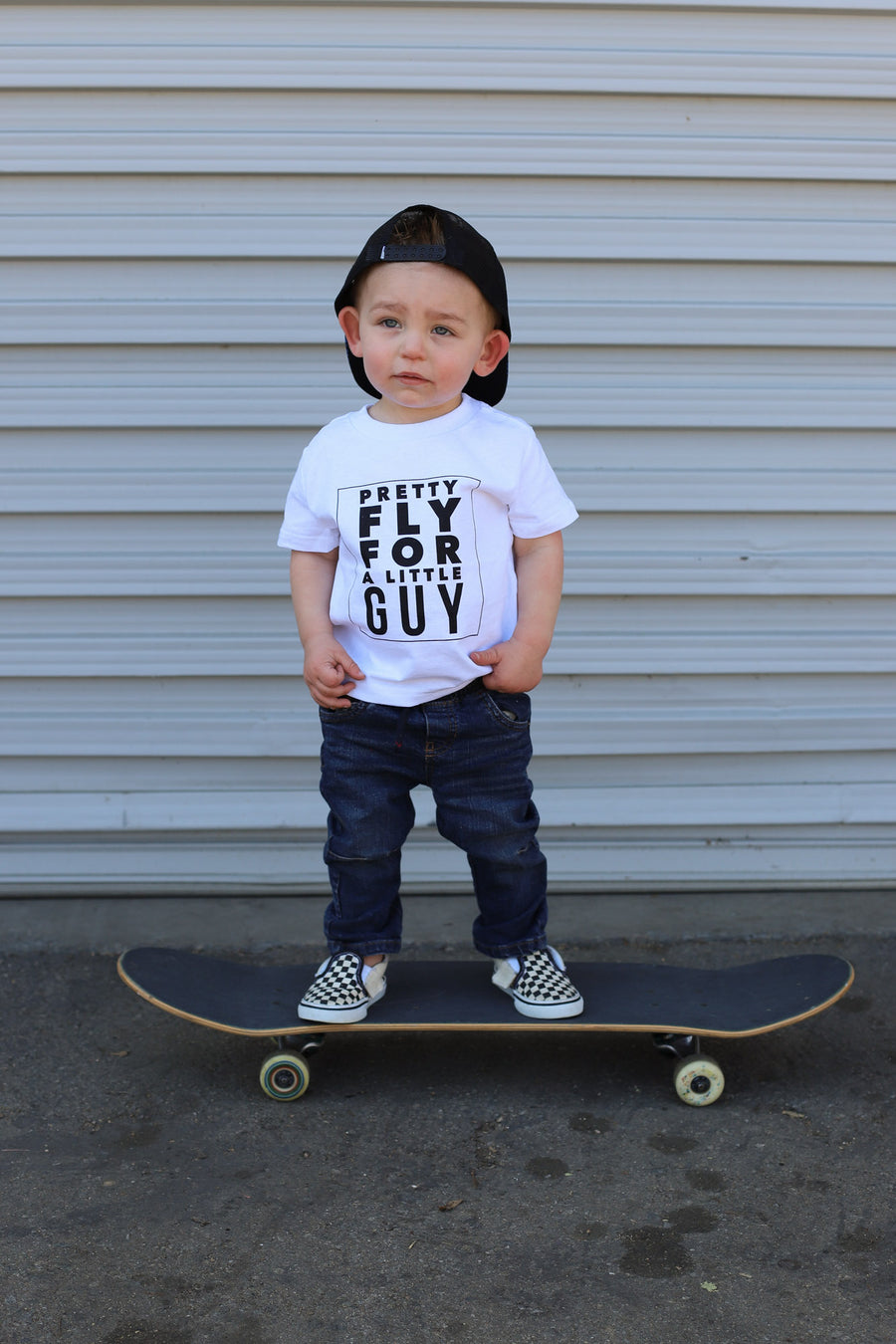 Kids Pretty Fly Graphic Tee: White - ShopSpoiled