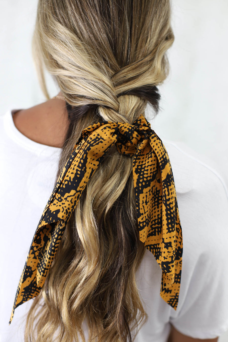 Snake Hair Scarf: Brown/Black - ShopSpoiled