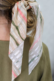 Daze Of Summer Hair Scarf: Tan/Olive - ShopSpoiled
