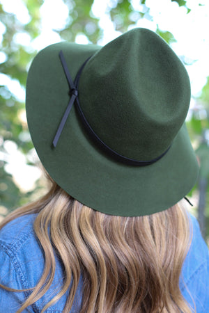 Simply Classic Felt Hat: Olive - ShopSpoiled