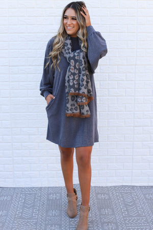 Maya Dress: Charcoal - ShopSpoiled