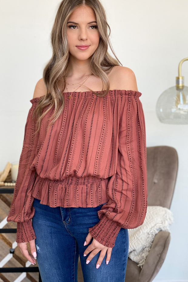 Autumn Feels Top: Rose - ShopSpoiled