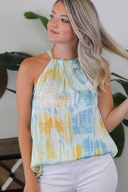 Sunnyville Top: Mint/Yellow - ShopSpoiled