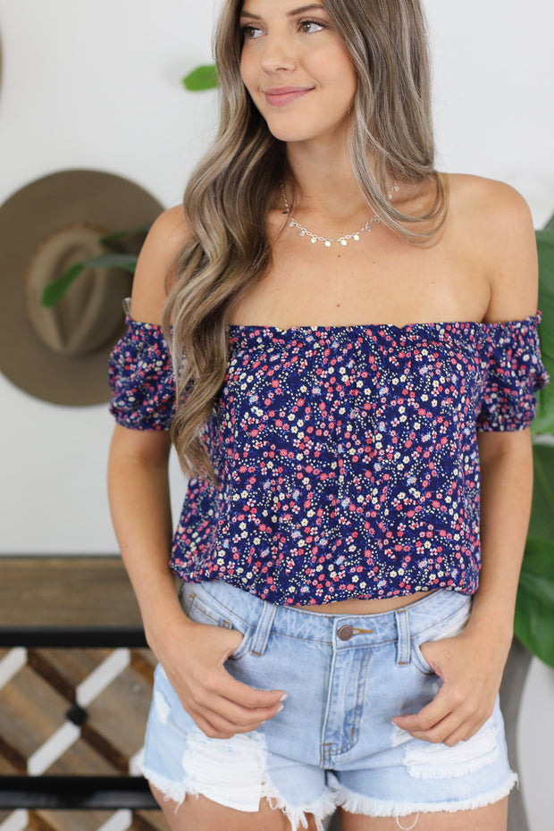 Easy Going Top: Navy - ShopSpoiled