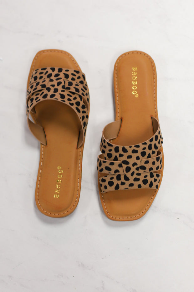 Upbeat Sandals: Cheetah - ShopSpoiled