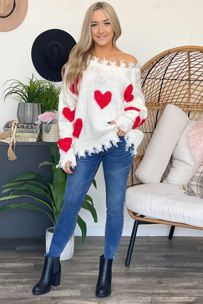 Crazy Heart Sweater - ShopSpoiled