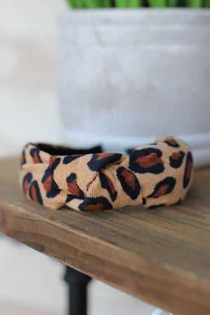 Lola Leopard Headband: Brown - ShopSpoiled