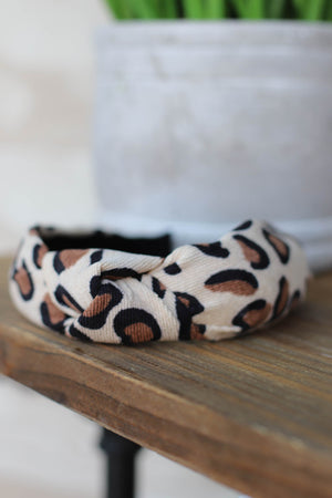 Lola Leopard Headband: Tan - ShopSpoiled