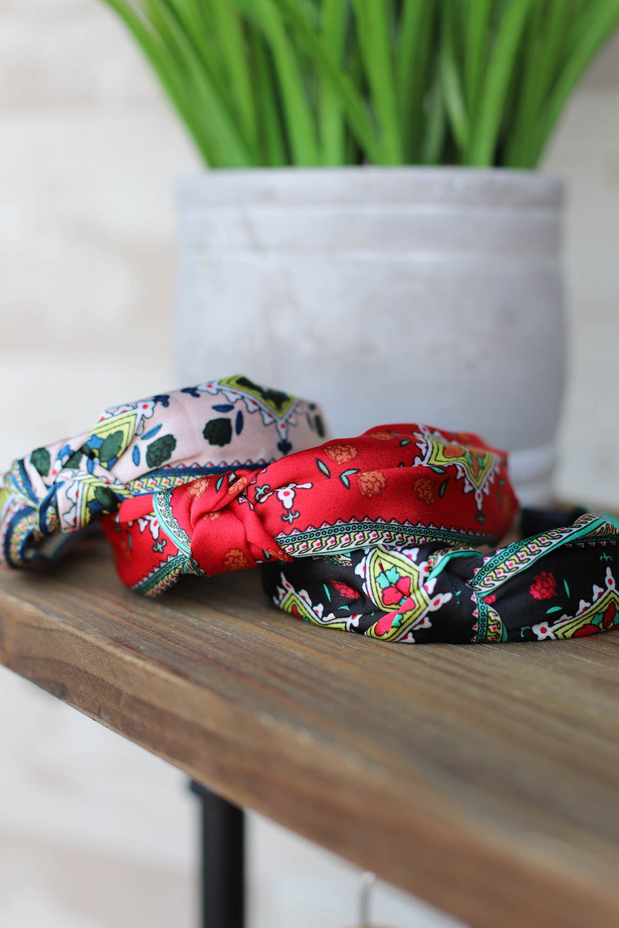 Leah Floral Headband: Red - ShopSpoiled