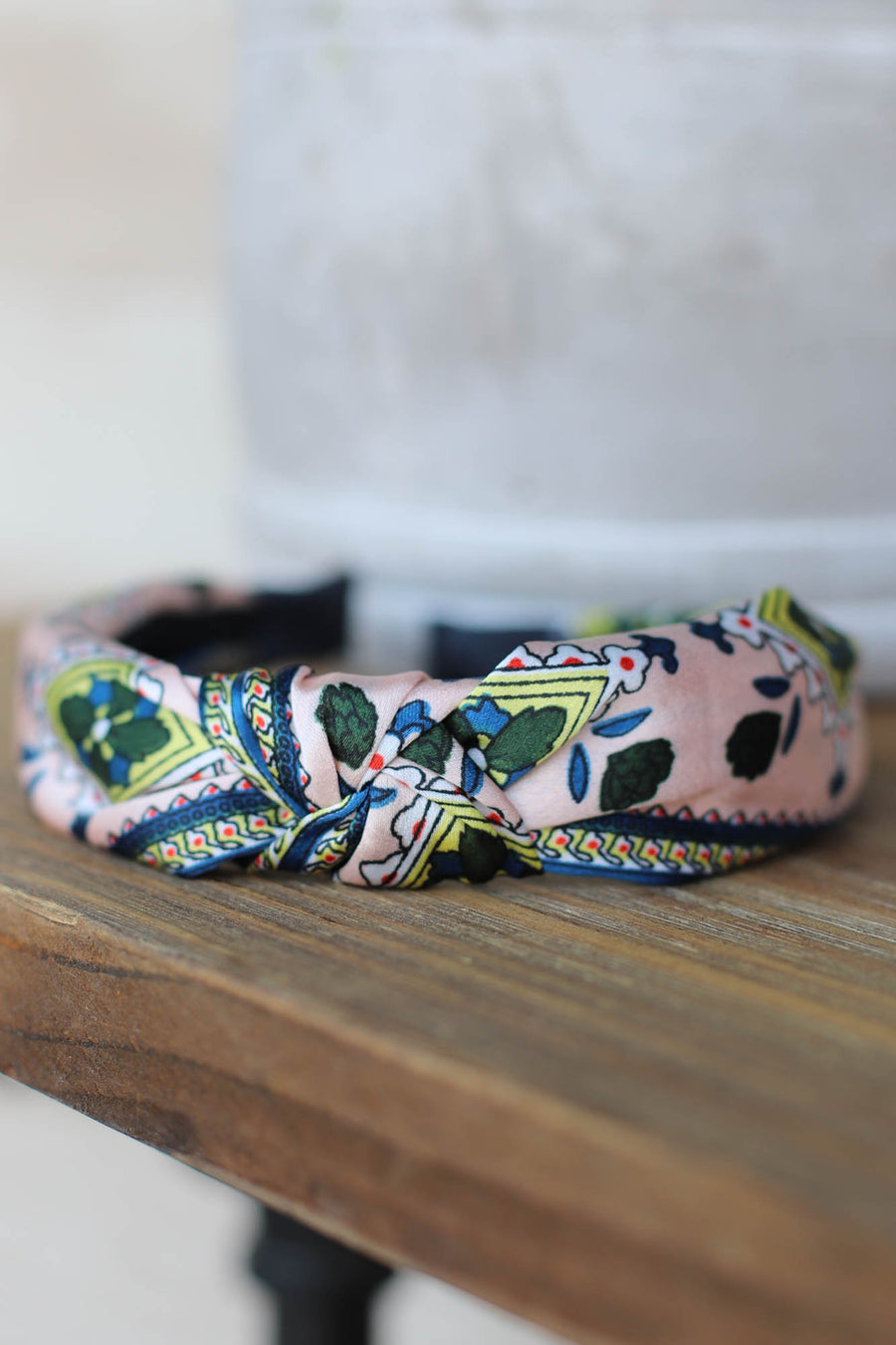 Leah Floral Headband: Pink - ShopSpoiled